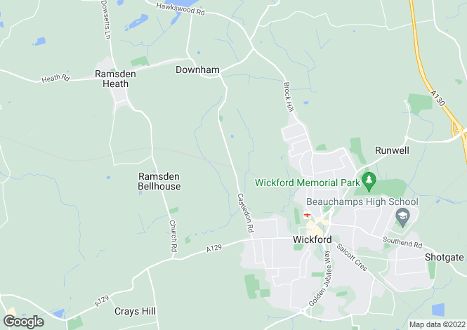 Map for Bell View Castledon Road, Downham, Billericay, CM11