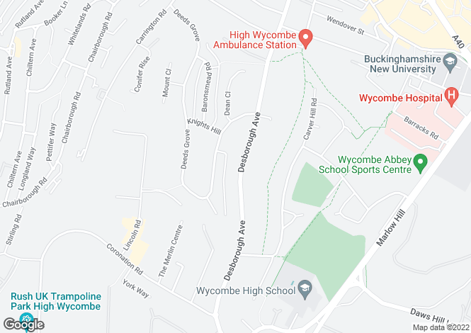 Map for DESBOROUGH AVENUE HIGH WYCOMBE
