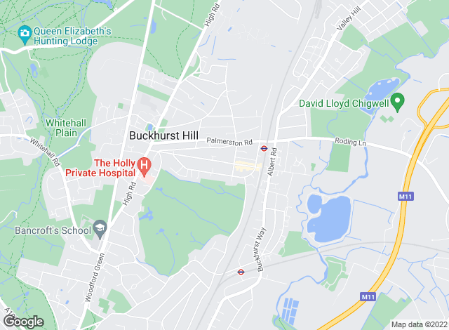 Map for Farr O'Neil, Buckhurst Hill
