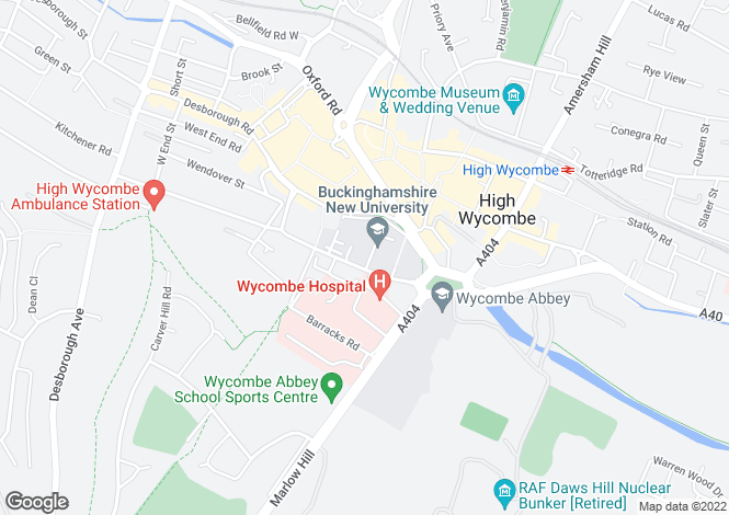 Map for Kingfisher Court, Queen Alexandra Road, High Wycombe