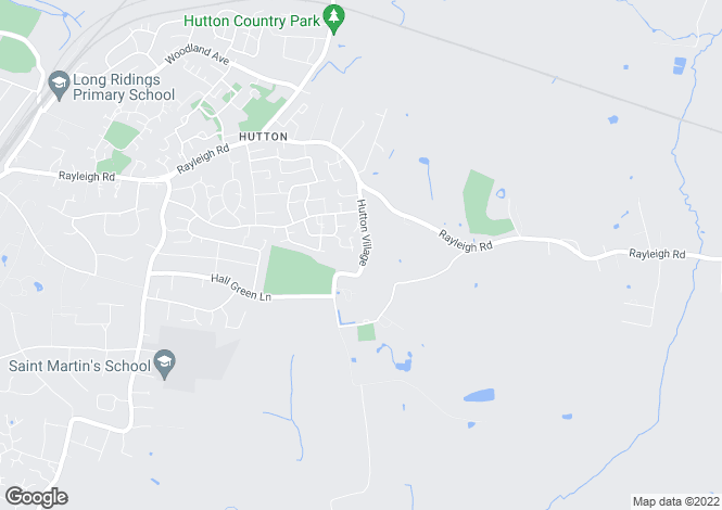 Map for Hutton Village, Hutton, Brentwood, Essex