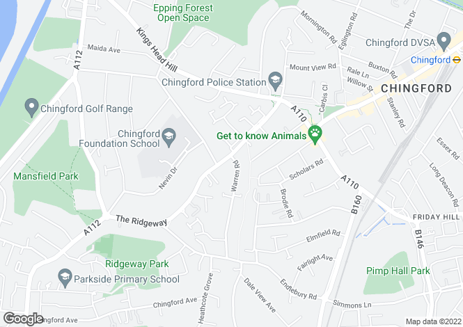Map for Chingford E4