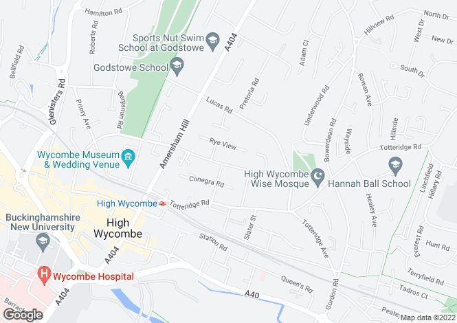 Map for Rectory Avenue, High Wycombe, Buckinghamshire, HP13