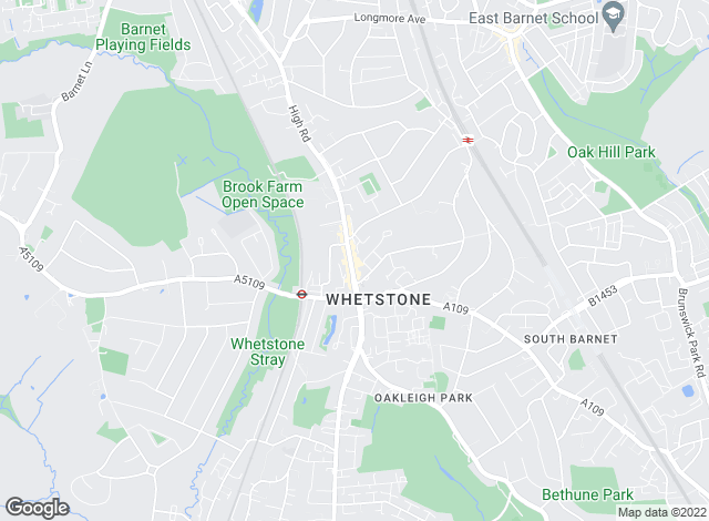 Map for Arnold & Goodall, Whetstone