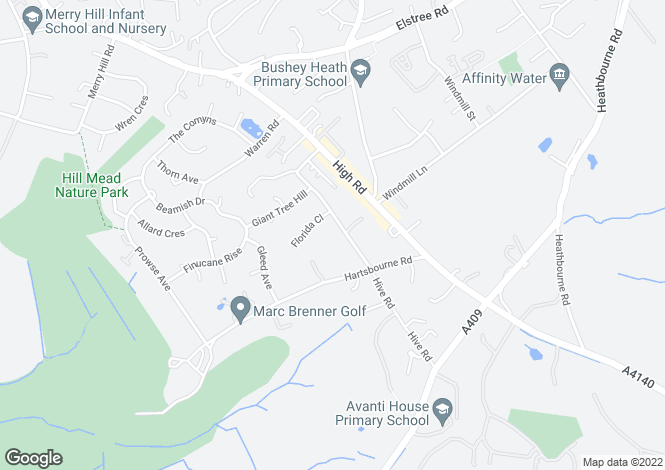 Map for California Lane,