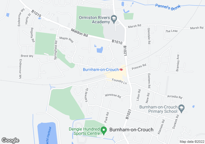 Map for HOLLY CLOSE, BURNHAM ON CROUCH