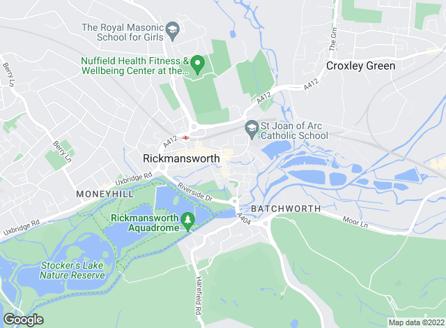 Map for Savills, Rickmansworth