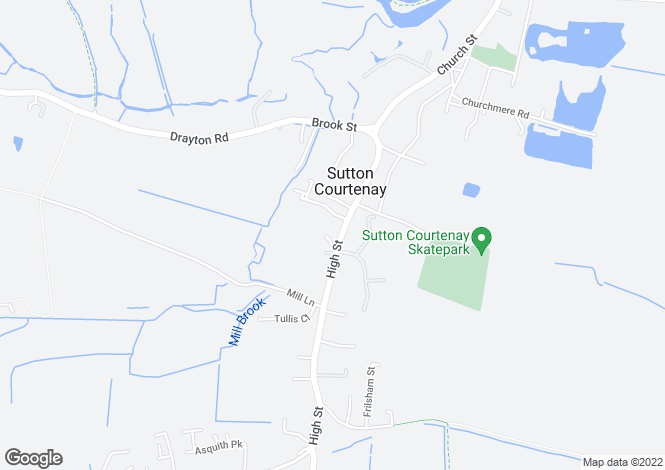 Map for High Street, Sutton Courtenay, Abingdon, Oxfordshire, OX14