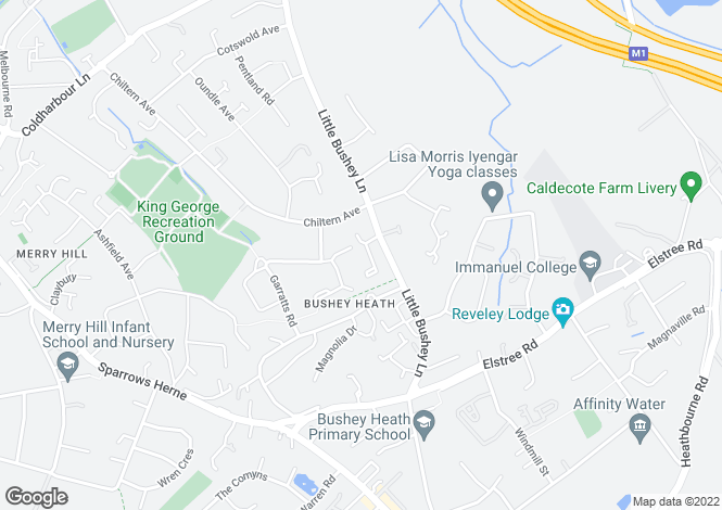 Map for Milner Court, Bushey