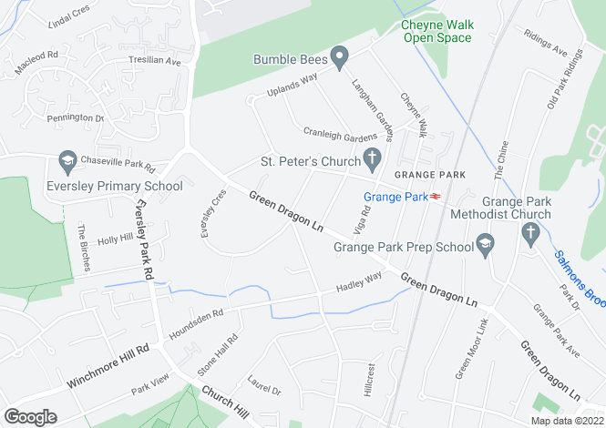 Map for Cressington Lodge, 122 Green Dragon Lane, Winchmore Hill, London