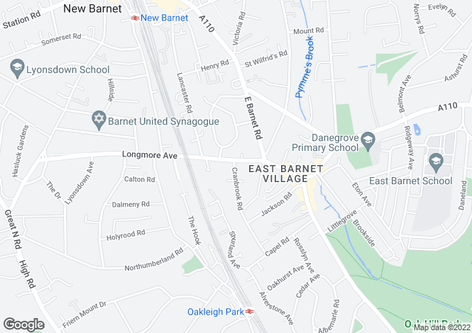 Map for Longmore Avenue  Barnet