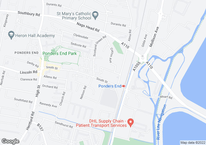 Map for Curlew House, Ponders end