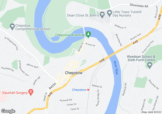 Map for Hollins Close, Chepstow