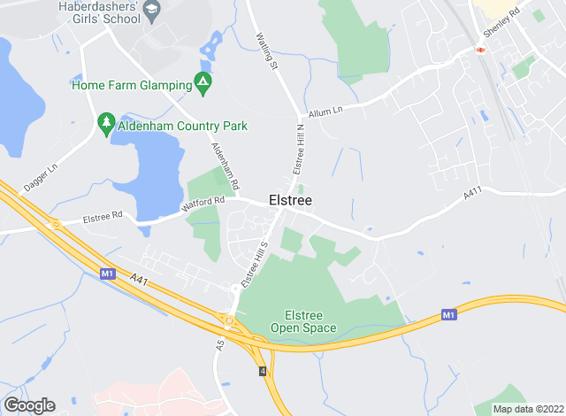 Map for Barry Allsuch & Co, Elstree - Lettings