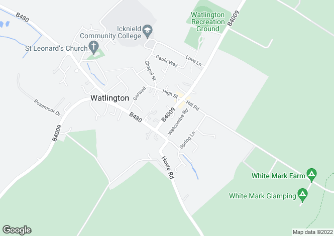Map for WATLINGTON, Oxfordshire
