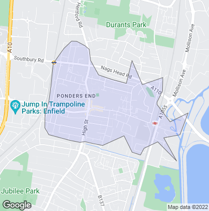 Map of property in Ponders End