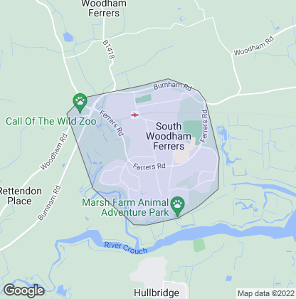 Map of property in South Woodham Ferrers