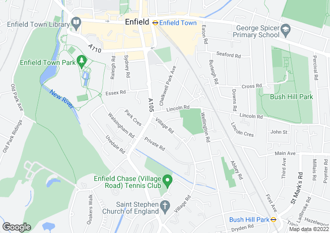 Map for Eastwick Lodge, 4 Village Road, Enfield, Middlesex
