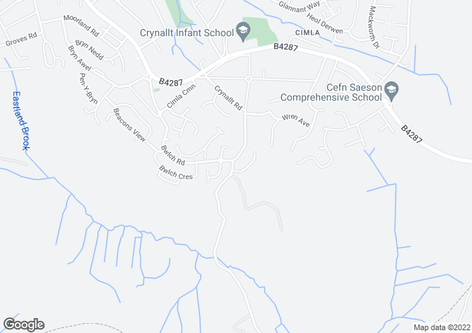 Map for 93 Bwlch Road, Cimla, Neath, West Glamorgan