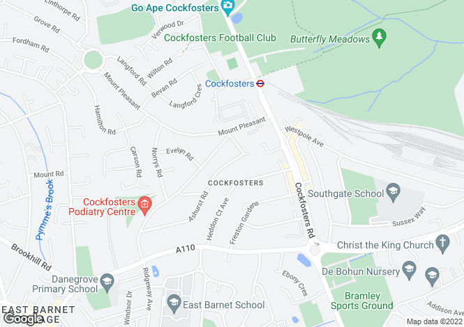 Map for Cockfosters