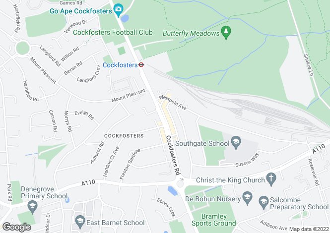 Map for Station Parade, Cockfosters