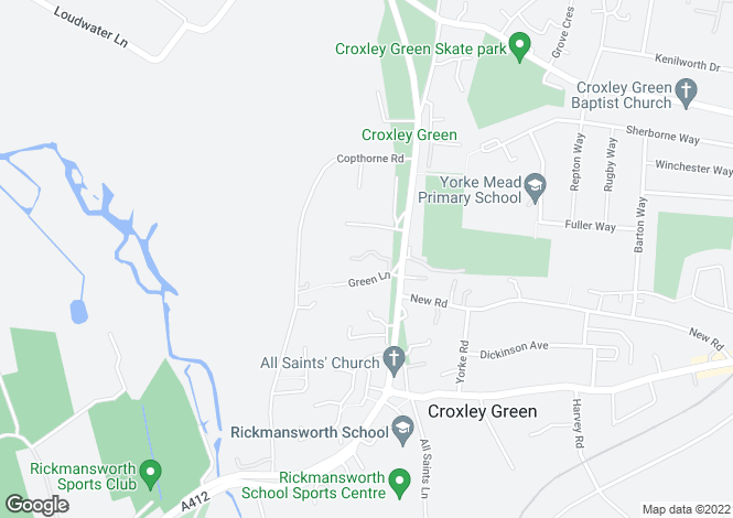 Map for Orchard On The Green, Green Lane, Croxley Green