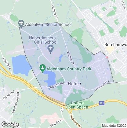 Map of property in Elstree