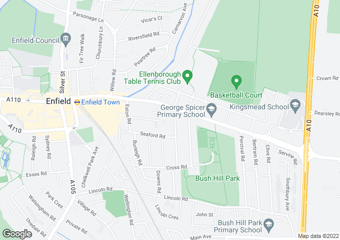 Map for Fotheringham Road, ENFIELD, Middlesex