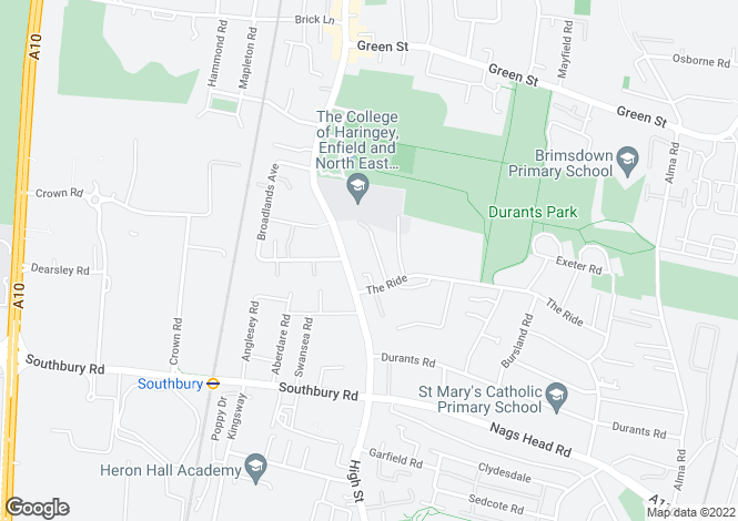 Map for Collinwood Avenue, Enfield, EN3