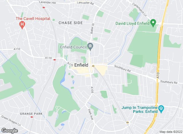 Map for Dayfields - Estate Agents & Valuers, Enfield Town