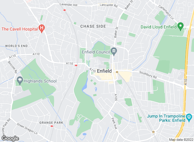 Map for Lanes, Enfield