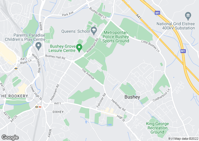 Map for Royal Connaught Drive, Bushey