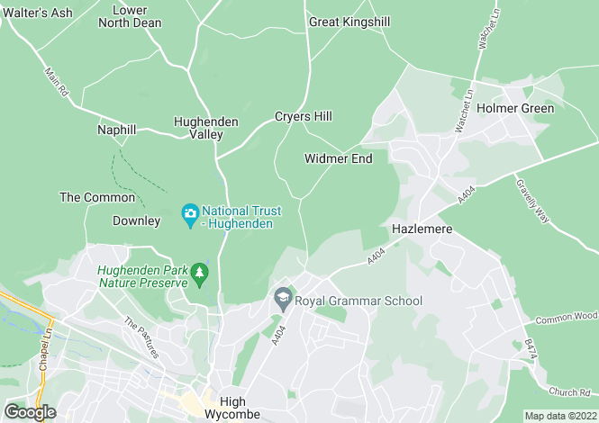 Map for Brands House, High Wycombe, Buckinghamshire