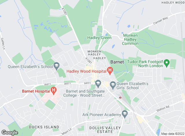 Map for Savills, Barnet