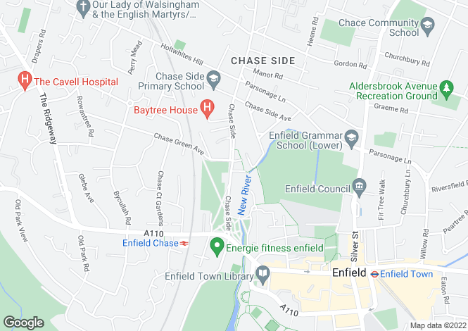 Map for Chase Side, Enfield