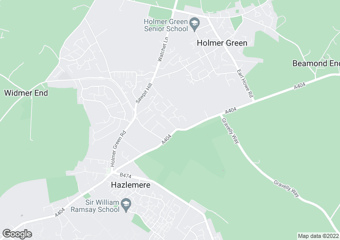 Map for Inkerman Drive, Hazlemere, High Wycombe