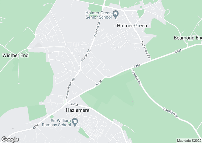 Map for Inkerman Drive, Hazlemere, HIGH WYCOMBE, Buckinghamshire