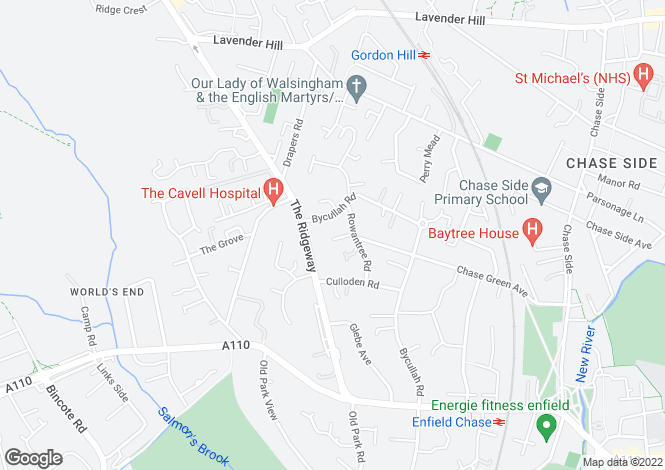 Map for ROBSON CLOSE, ENFIELD, EN2