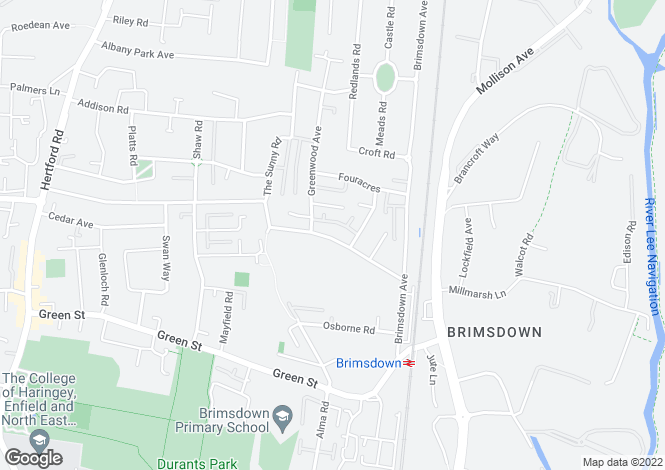 Map for Carterhatch Road,