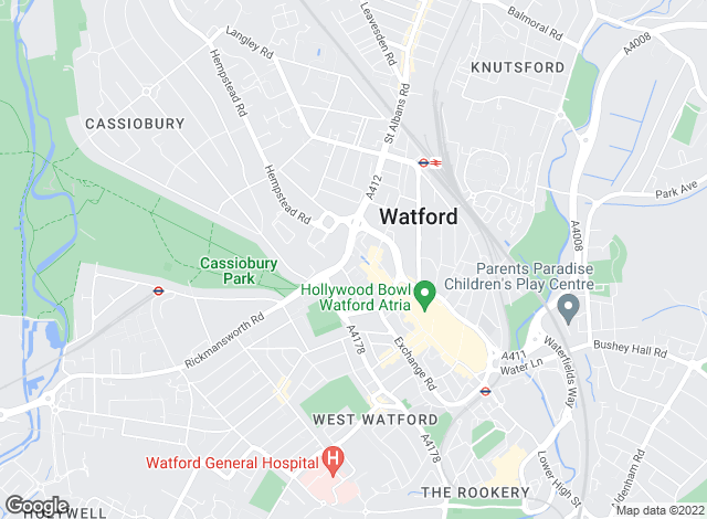 Map for Taylors Lettings, Watford