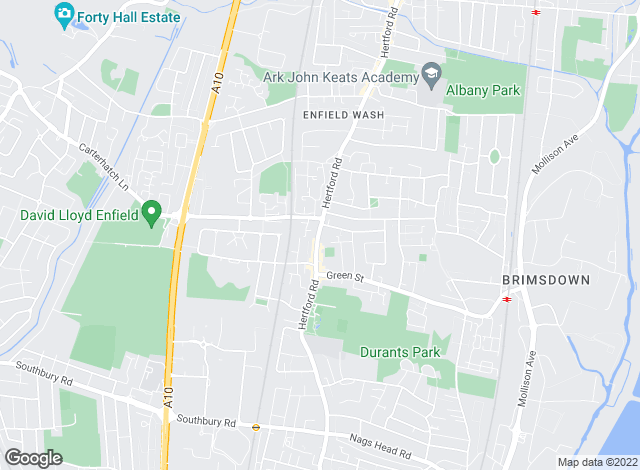 Map for Equity Estate Agents, Enfield