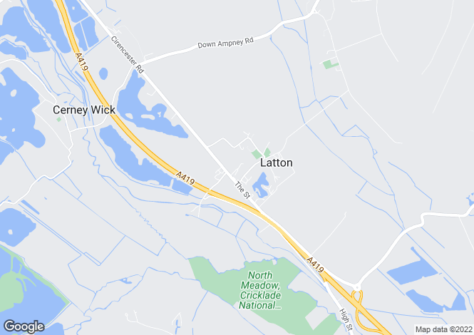 Map for Croft Close, Latton, Wiltshire