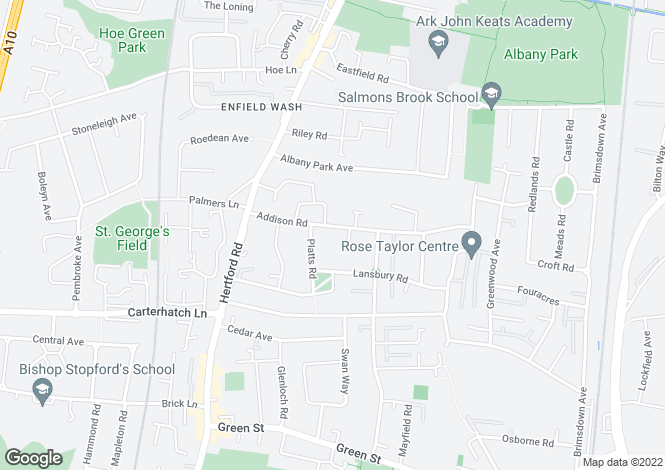 Map for Addison Road  Enfield Highway