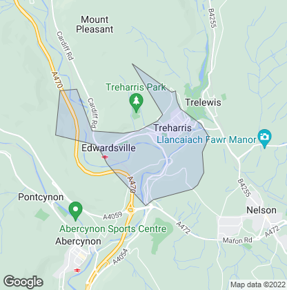 Map of property in Treharris