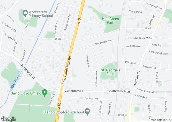 Map for BOLEYN AVENUE, ENFIELD,EN1, MIDDLESEX