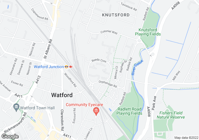 Map for Keele Close, Watford