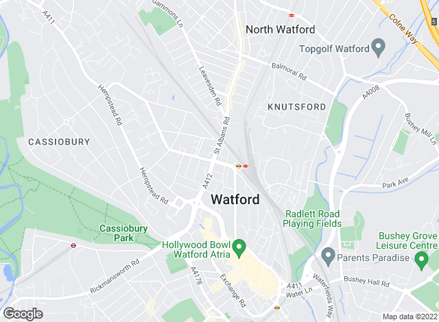Map for Marshall Vizard, Watford
