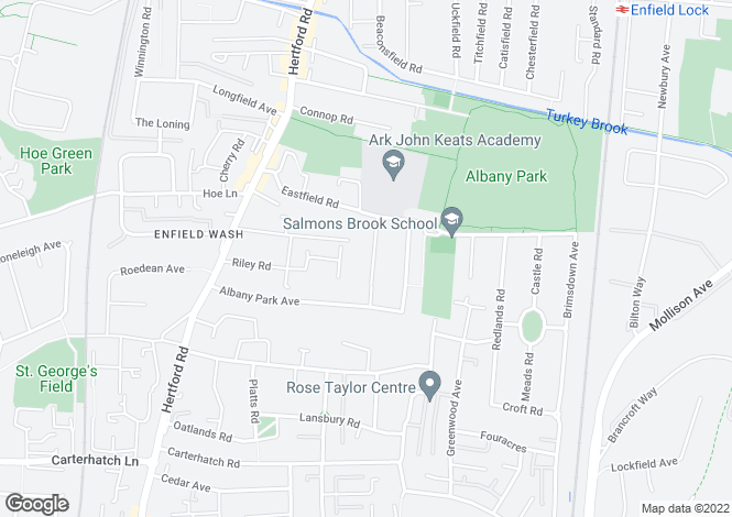Map for Grove Gardens  Enfield