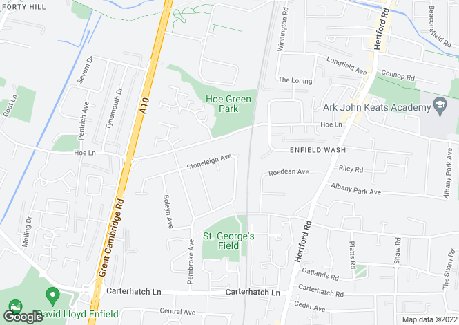 Map for STONELEIGH AVENUE, ENFIELD, EN1, MIDDLESEX