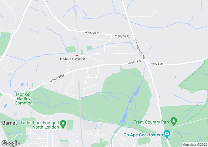 Map for Corbar Close, Hadley Wood